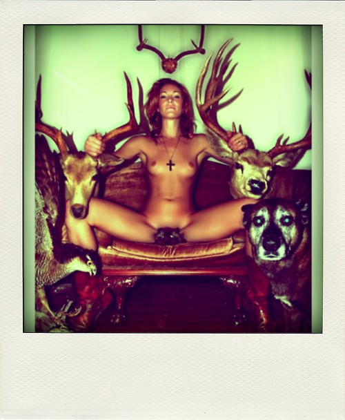 Nude women and a deer men rimming